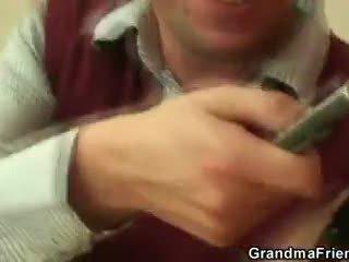 Briest kuce takes two cocks pov