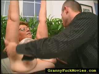 Big Obese granny nailing fresh chick guy