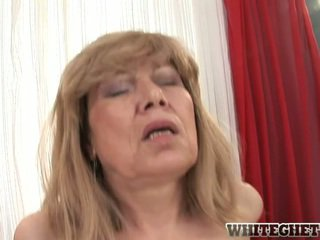 Awesome Old Blondie Having Her Aged Snatch Banged Especially Fat
