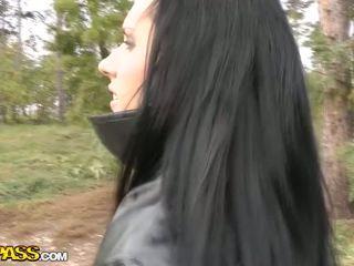 Hot Brunette Goes Naked For The Camera