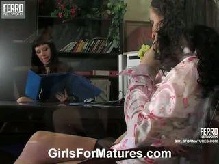 Silvia And JoAnna Pussyloving Mom Onto Film