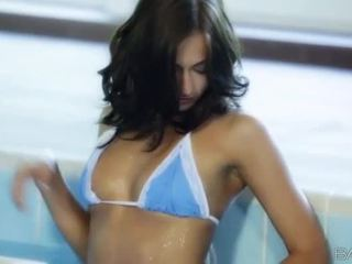 hot brunette, nice naked, free passionate clip
