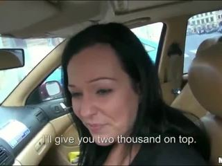 Curvy Natali Blue sex inside her own car