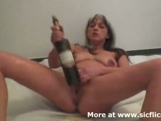 Brutal Fisting And Wine Bottles Make Her Squirt