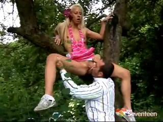 Blonde Teen Gets Screwed Inside The Forest