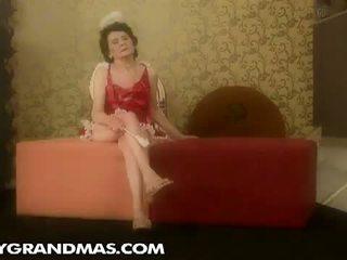 Lusty Grandmas: Grandma Laura gets banged by young devil