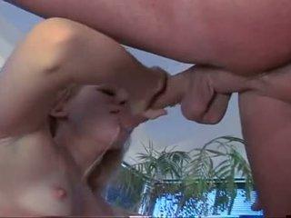 Liv wylder wraps pouty lips حول soaked shaft engulfing شاق