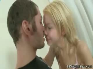 Horny guy tore Silvia's thin hymen.