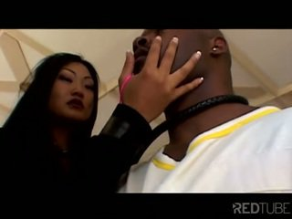 Asian sluts suck big black dick with style