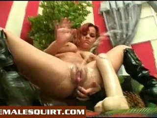 Sexy gà con nóng solo squirting masturbations