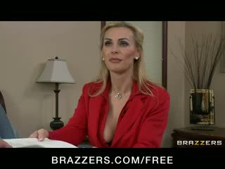 British Big tit Milf real-estate agent fucks her client for a sal