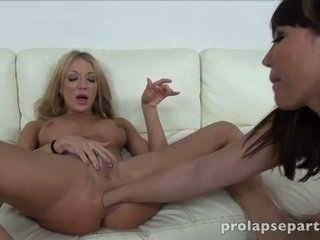 Prolapse party with lots of anal fisting