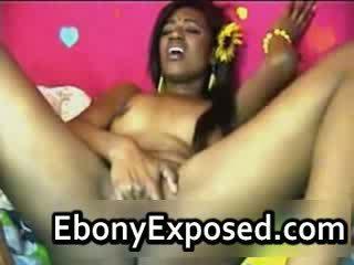 Amazing ebony Babe fingering Pussy