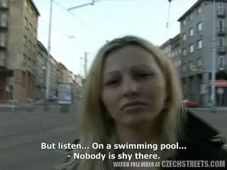 CZECH STREETS - Ilona takes cash for public sex Video