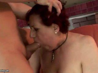 Rất chất béo bà getting fucked lược cứng