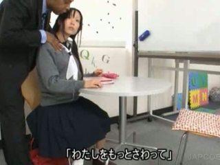 일본의, 여학생 큰