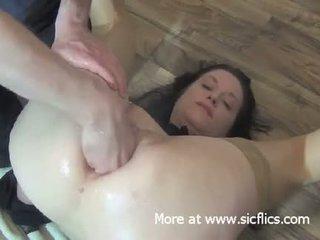 brunette, babe, anal, fuck