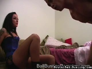 Hot Brutal Ball Busting Video Starring