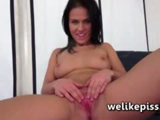 brunette neuken, spuitende, close-up video-