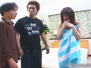Shy Japanese teen girl gets her hairy part3