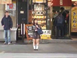 Asian Schoolgirl Flashing in Public