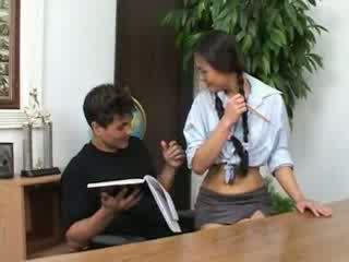 Petite asian schoolgirl banged