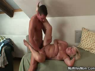 Fatty mature Blonde gets laid