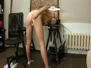 Evelina woman office pleasure on a chair