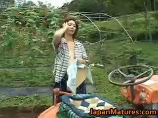 japoński, seks grupowy, wielkie cycki, na wolnym powietrzu
