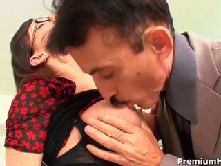 Jennifer white screwed by her pervert mature boss