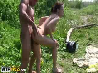 Raunchy out doors sex for money