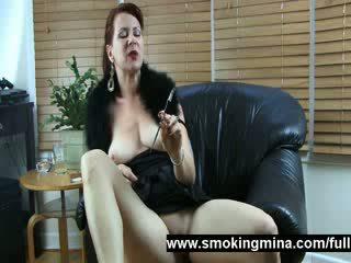Dominant milf smoker