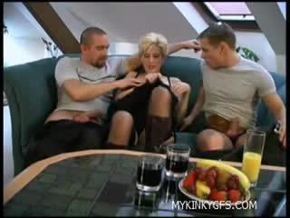 blondjes scène, vol aanlokkelijk film, vol tightpussy seks