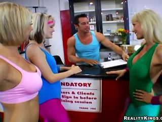 real fitness hottest, you group fun, foursome hq