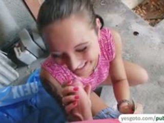 Shy Agata Gets Fucked In Public In Exchange Of Cash
