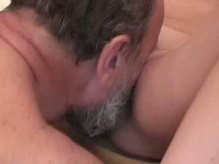 Chubby grandpa fucking young blonde Video