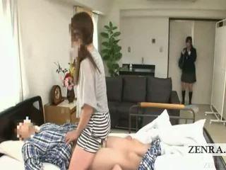 Subtitled japansk skolejente sykehus milf overraskelse