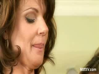 MILF mommies undressing in the Kitchen