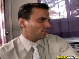 beste redhead mov, office sex, grote pik thumbnail