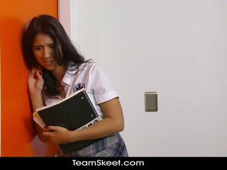 brunette hot, student great, booty full