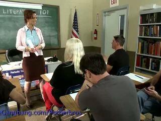 Kink: Hot teacher dreams about gangbang