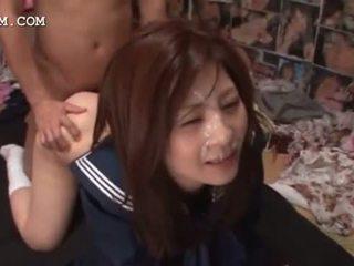 kijken japanse, cumshot, controleren bukkake klem