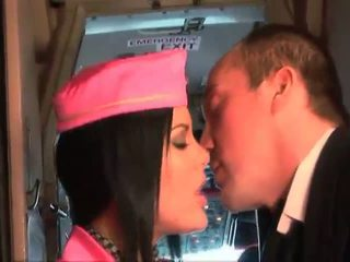 Bigcock pilot fuck his best stewardess aboard
