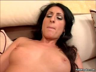 brunette vid, rated blowjobs fuck, sucking action