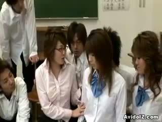 Napalone japońskie nauczycielka gets fucked i wykorzystane