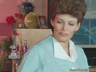 wijnoogst klem, pornstar, grappig neuken