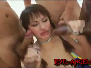 dubbele penetratie, monster cock kanaal, vers gang bang