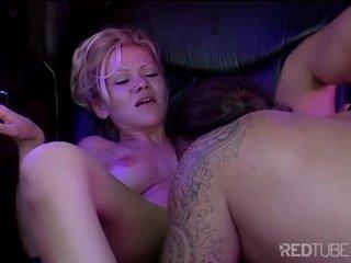 Julie Meadows blonde pussy boned in limo