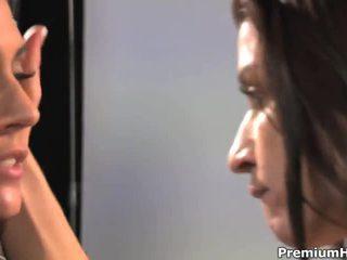 zien brunette, nieuw japanse gepost, kut likken video-