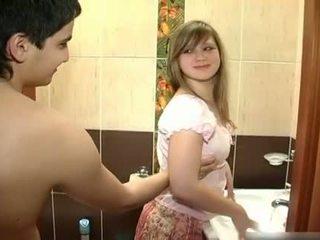 Nowy para pieprzenie w the łazienka